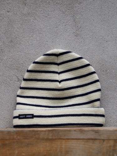 Stripey Knit Hat (Cream)