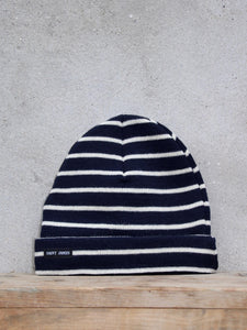 Stripey Knit Hat (Navy)
