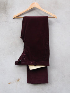 Tailored Corduroy Trousers (Burgundy)