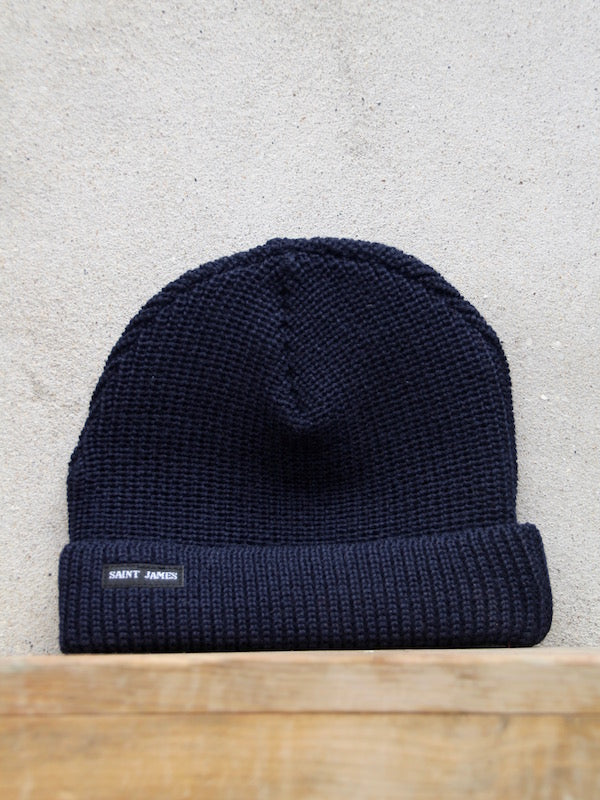 Sailors Knit Hat (Navy) Unis A by Saint James
