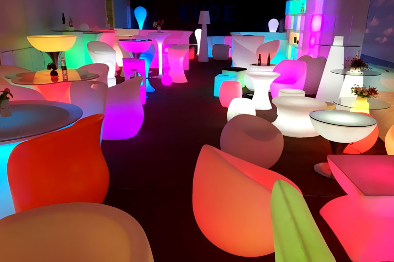 led glow furniture