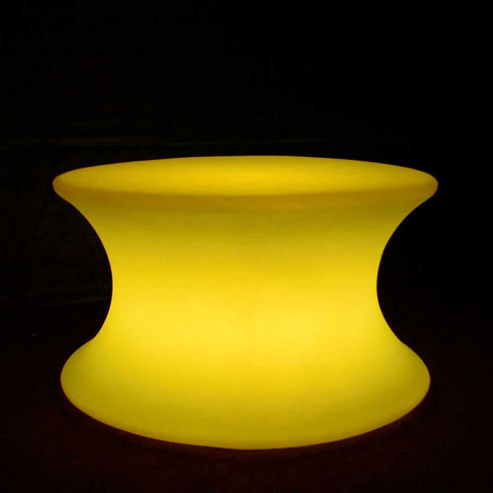 LED Cotton Reel Shaped Lounge Table