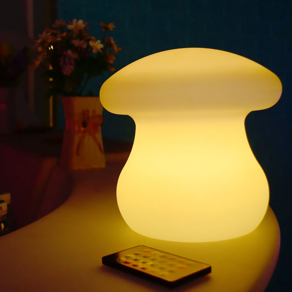 LED Mushroom Shaped Light for table decor