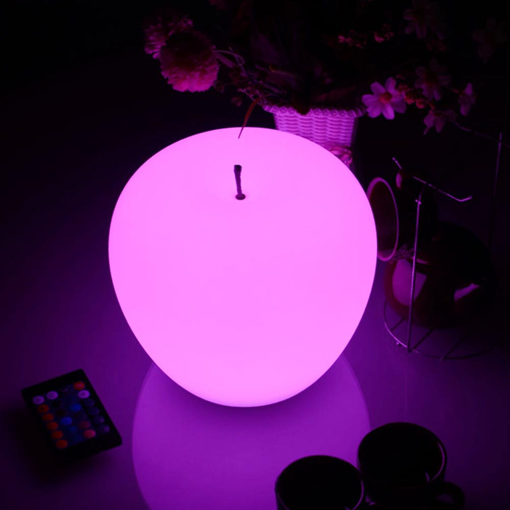 Led Apple Shaped mood glow Light for decorating