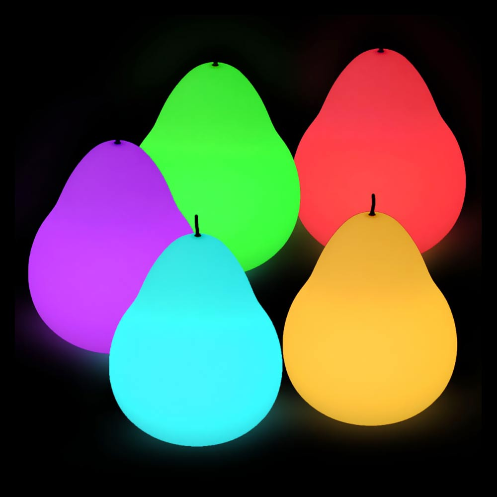 Led Pear Shaped glow mood Light for decorating