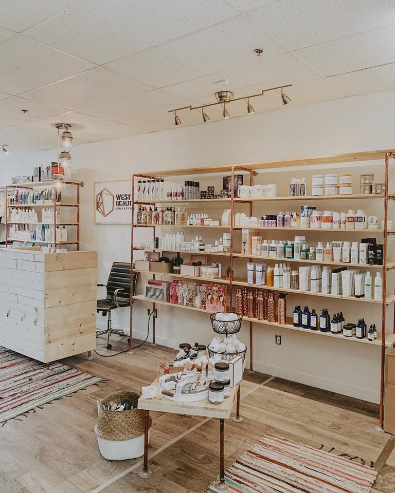 West Beauty Collective // Local Good + Beauty Products that are sustainable. Located in Nanaimo + Ship Canada Wide.