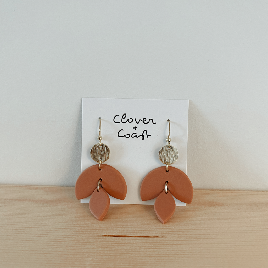 Clover + Coast Clay Connector Earring