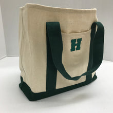 "Load image into Gallery viewer, Canvas ""H"" Book Bag"