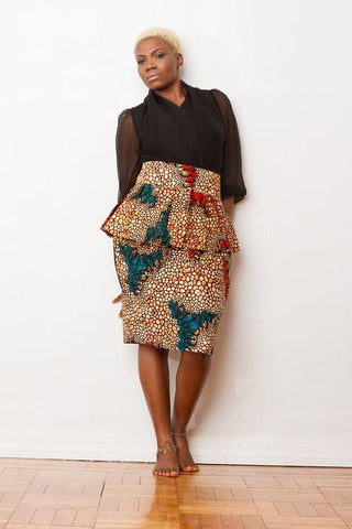 Evelyn Lewis Peplum Skirt