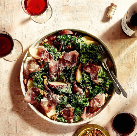 kale and speck salad