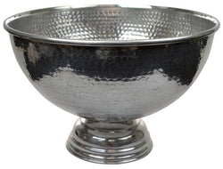Antique Silver Round Drink Cooler-Dining & Entertaining-Coast To Coast Home-The Bay Room