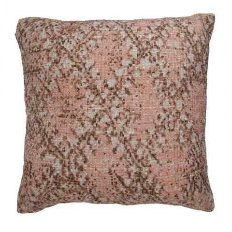 Artisan Chenille Cushion 50x50cm- Pink-Soft Furnishings-Urban Products-The Bay Room