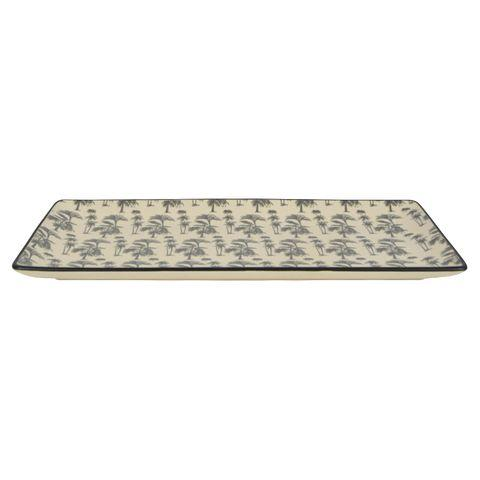 Augusta Ceramic Rectangular Plate - White/Grey-Dining & Entertaining-Coast To Coast Home-The Bay Room