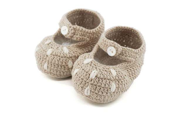 Bambi Cotton Crotchet Booties - Natural-Shoes & Socks-Dlux-The Bay Room
