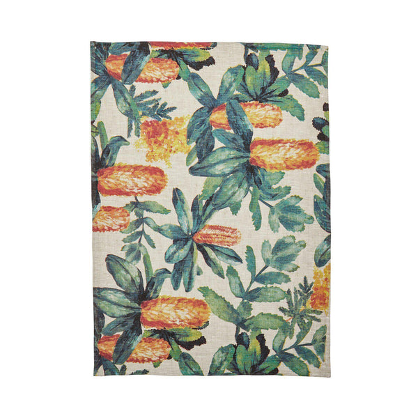 Banksia Multi Tea Towel-Soft Furnishings-Bonnie & Neil-The Bay Room