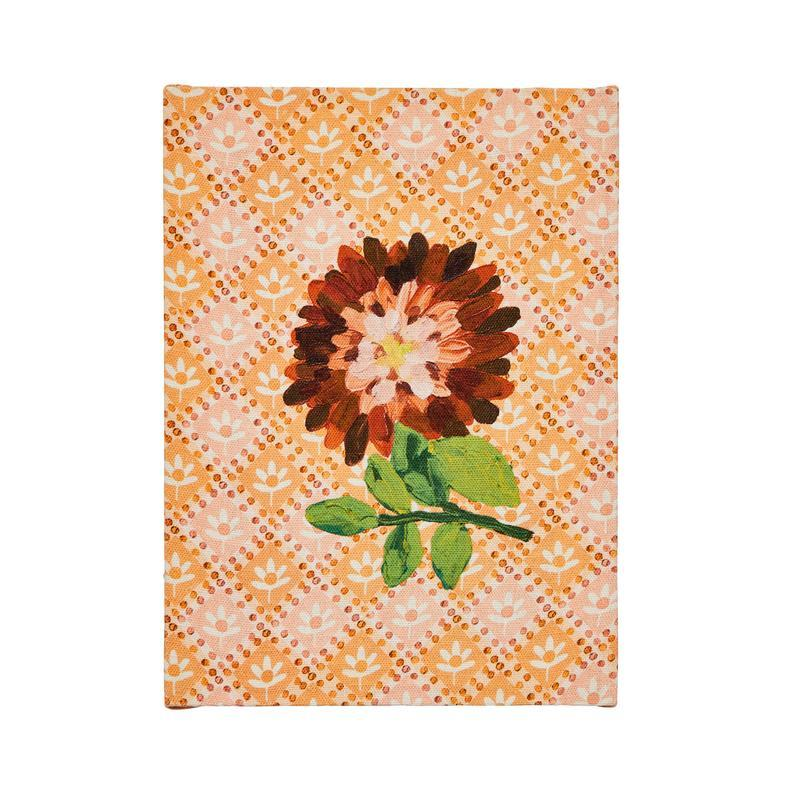 Dahlia Orange Artwork-Wall Decor-Bonnie & Neil-The Bay Room
