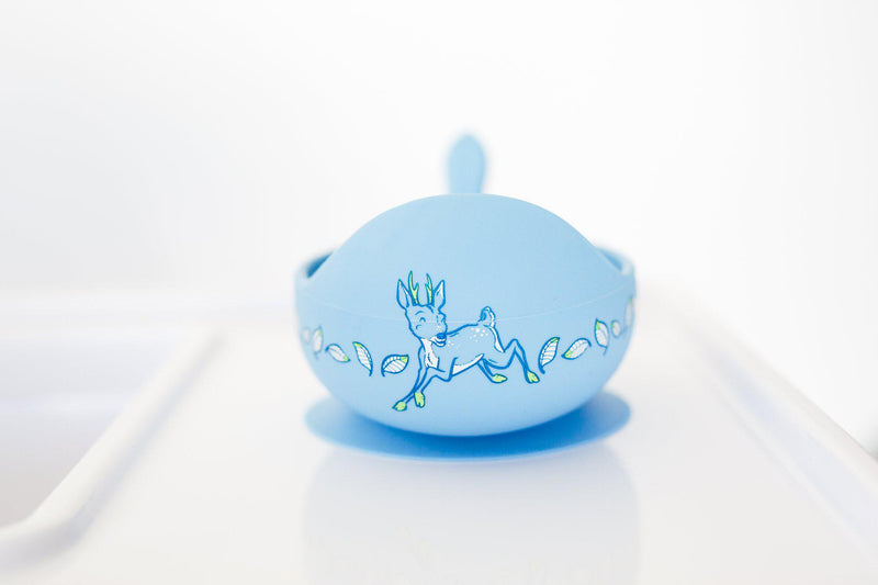 Daisy & Deer Anniversary Limited Edition Silicone Bowl Set-Nursery & Nurture-Wild Indiana-Deer-The Bay Room