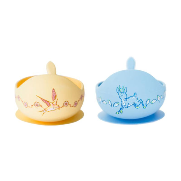Daisy & Deer Anniversary Limited Edition Silicone Bowl Set-Nursery & Nurture-Wild Indiana-The Bay Room