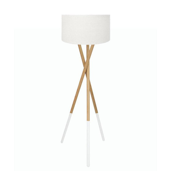 Fairbank White Dipped Tripod Lamp with White Shade-Lighting-Madras Link-The Bay Room
