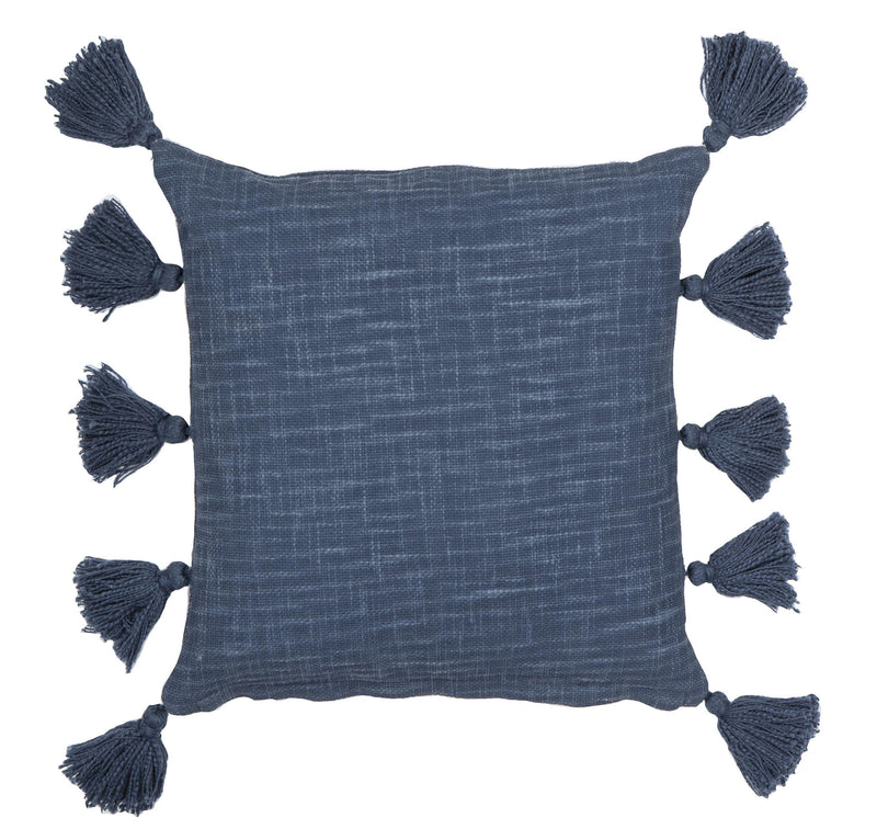 Luna Cushion - 50cm x 50cm - Blue-Soft Furnishings-Amalfi-The Bay Room
