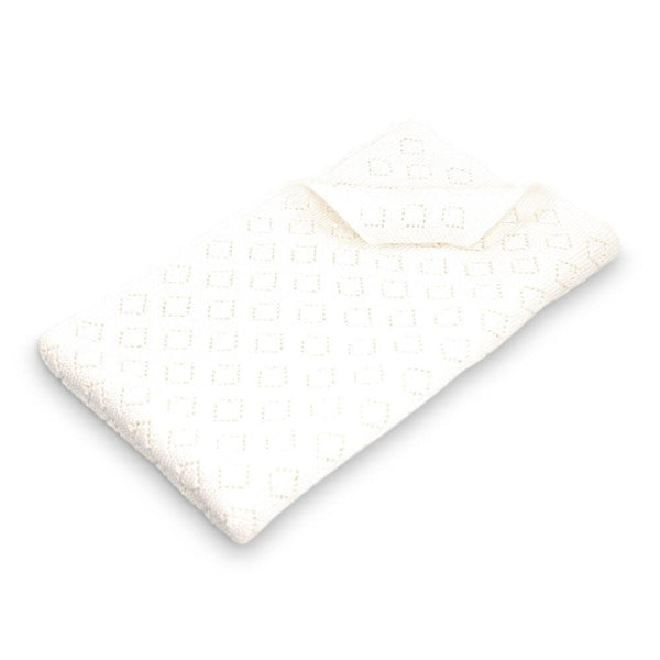 Milo Cotton Pointelle Knitted Blanket - Ivory-Nursery & Nurture-Dlux-The Bay Room