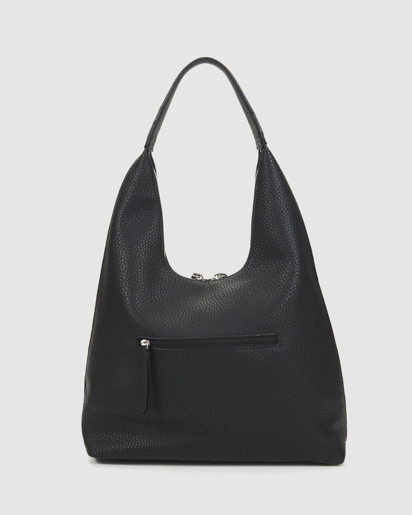 Mitchel Hobo Tote - Black-Bags & Clutches-Tony Bianco-The Bay Room
