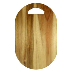 Oval Acacia Board with Cutout Handle-Dining & Entertaining-Coast To Coast Home-The Bay Room