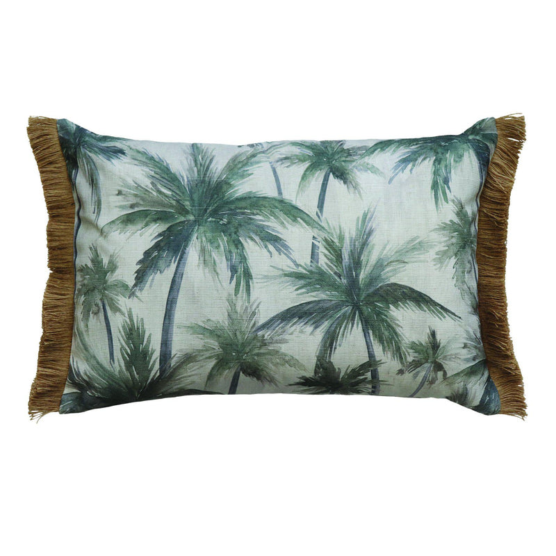 Palms Charcoal Cushion 40x60cm-Soft Furnishings-Madras Link-The Bay Room