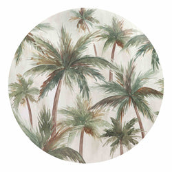 Palms Round Placemat - Set of 4-Dining & Entertaining-Madras Link-The Bay Room