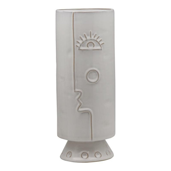 Picasso Face Vase - White-Decor Items-Madras Link-The Bay Room