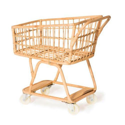 Rattan Shopping Trolley-Toys-Poppie Toys-The Bay Room