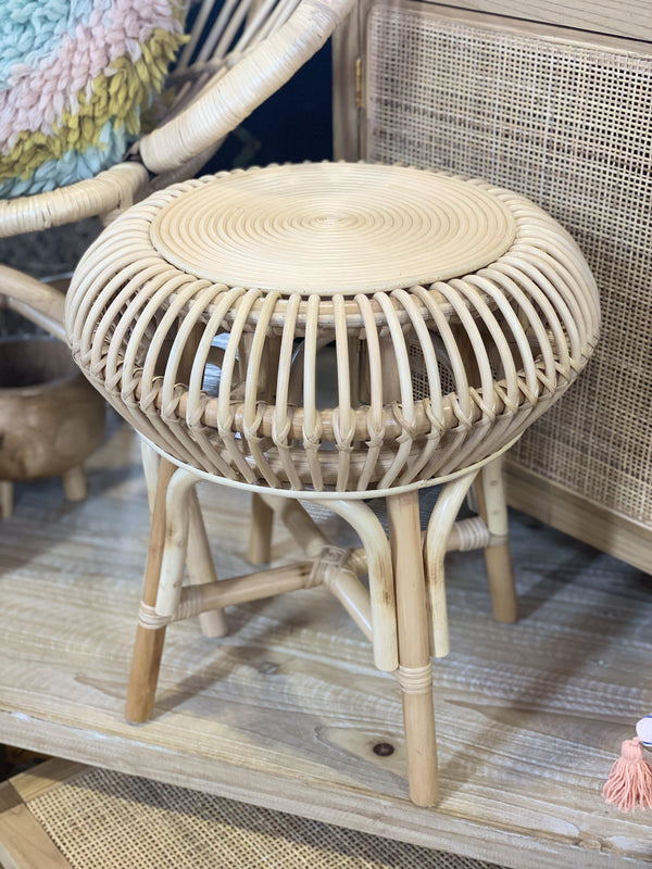 Rattan Stool / Side Table-Furniture-DWBH-The Bay Room