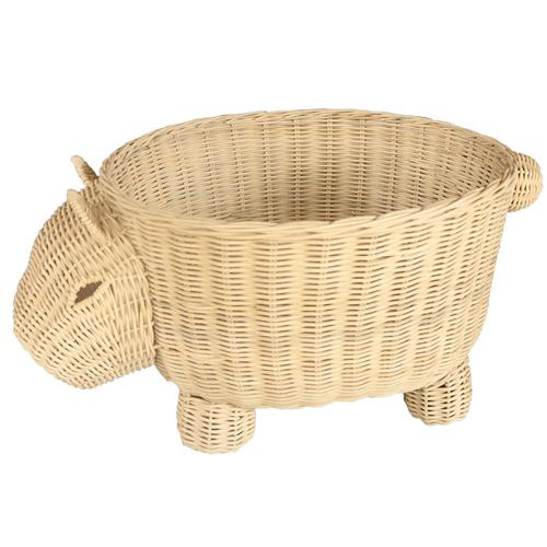 Rattan Toy Basket - Wombat-Decor Items-DWBH-The Bay Room