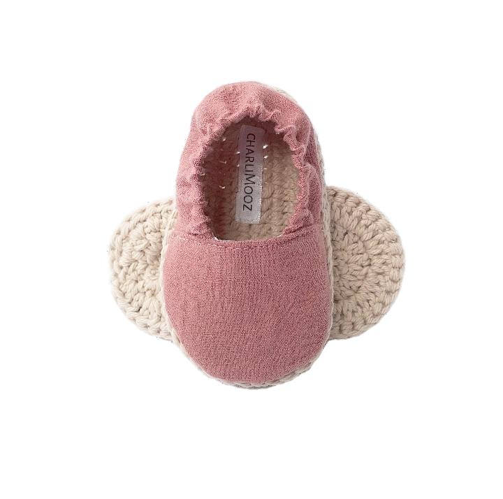 Soft Sole Baby Shoe - Rose-Shoes & Socks-CharliMooz-The Bay Room