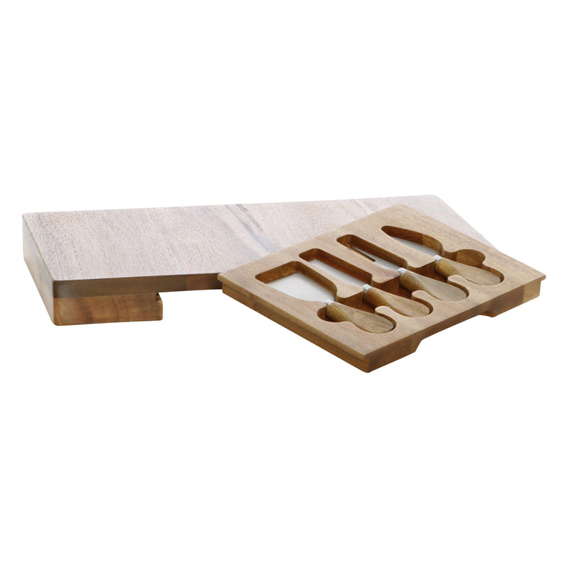 Stafford Rectangular Cheese Board with Knives-Dining & Entertaining-Pure Homewares-The Bay Room