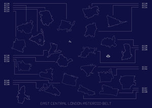 East Central London Asteroid Belt giclee print