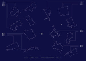 Wast Central London Asteroid Belt giclee print