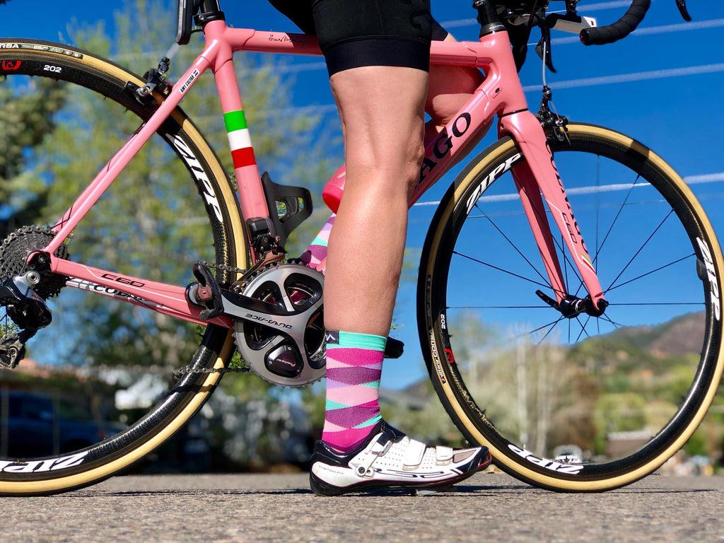 The Dreamer socks with matching Colnago bike