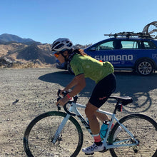 Load image into Gallery viewer, cyclist rides gravel with Shimano neutral support.