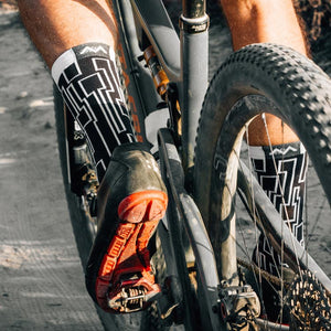 Mountain biking in the DaVino sock