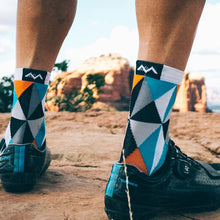 Load image into Gallery viewer, Triangulate cycling socks in Sedona