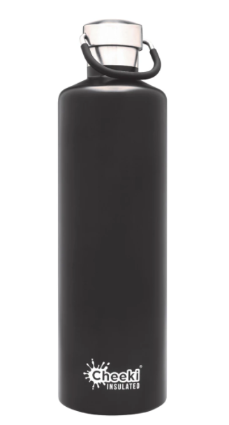 Insulated Drink Bottle 1L Matt Black