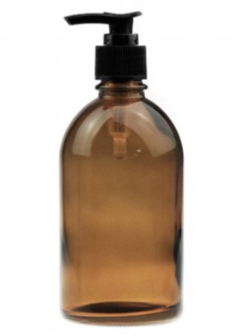 Amber Glass Lotion Bottle