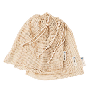 Organic Cotton Mesh Produce Bag - 3 Pack