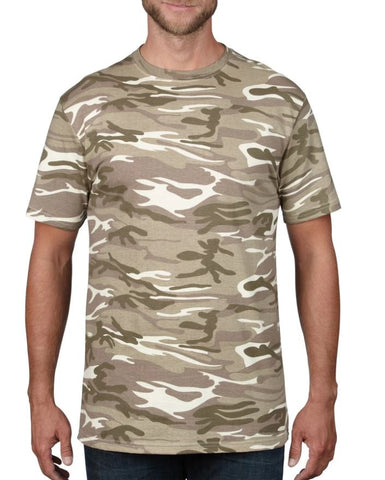Anvil 939 Adult Midweight Camouflage Tee 2XL-3XL