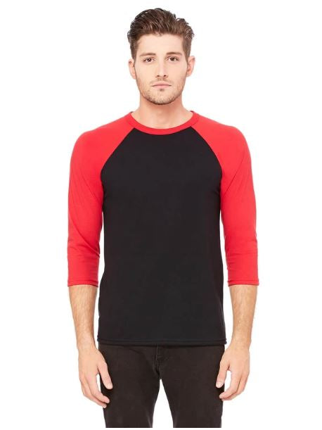 Raglan 3/4 Sleeves Baseball Shirts