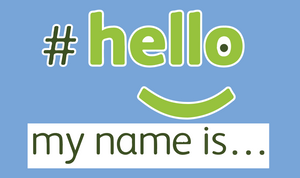 Hello my name is...Printed Tie Back Cap