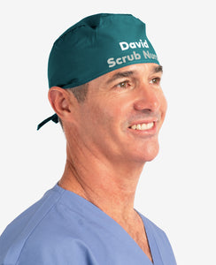 Printed Personalised Tie Back Scrub Cap