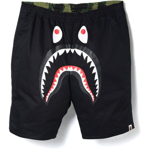 "Bape ""1st Camo Shark"" Reversible Swim Shorts (Black/Green)"