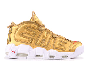 "Air More Uptempo ""Supreme"" (Gold) - Used"